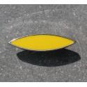 Bouton métal argent jaune 30 mm b38