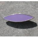 Bouton métal argent lilas 30 mm b38