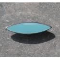 Bouton métal argent turquoise 30 mm b38