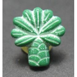 Bouton palmier vert blanc  15 mm b58