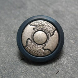 Bouton roue antique bleu raf 20 mm b13