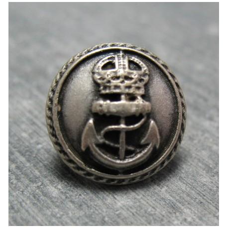 Bouton ancre queen vieil argent 15 mm b65