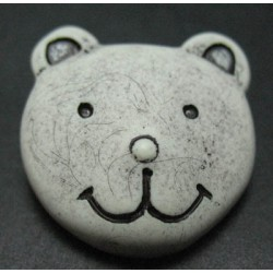 Bouton ours écru 25 mm b46