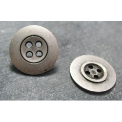 Bouton bretelle argent 15mm