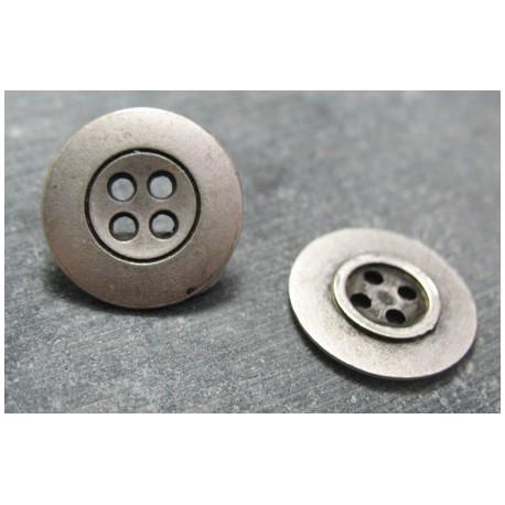 Bouton bretelle argent 15 mm b71