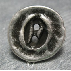Bouton travaillé vieil argent 25mm
