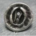 Bouton travaillé vieil argent 25 mm b13
