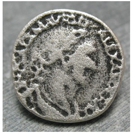 Bouton empereur vieil argent 22 mm b70