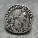 Bouton empereur vieil argent 15 mm b70