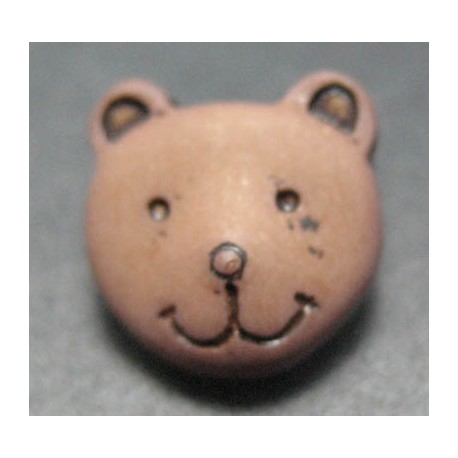 Bouton ours marron 11 mm b46