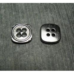 Bouton carre  argent 11 mm b3