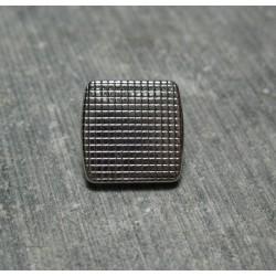 Bouton carré quadrille argent 12mm