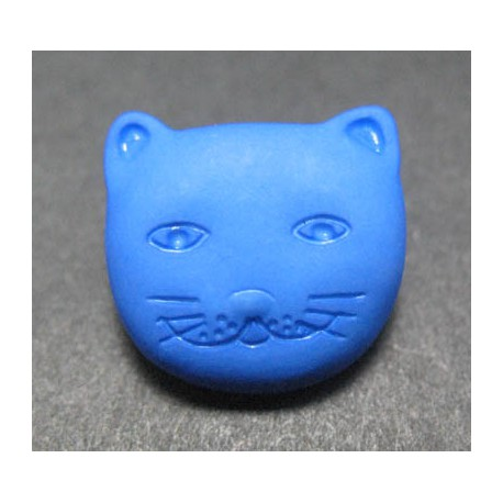 Bouton chat bleu 14 mm b46
