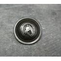 Bouton cheval vieil argent 23 mm b13