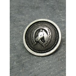 Bouton cheval  argent 23 mm b13