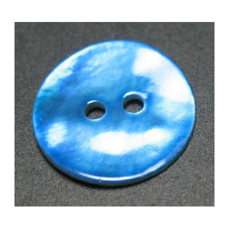 Nacre bleu 15 mm