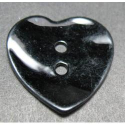 Nacre coeur noir 20 mm