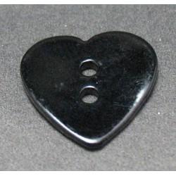 Nacre coeur noir 15 mm