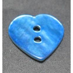 Nacre coeur bleu 15 mm