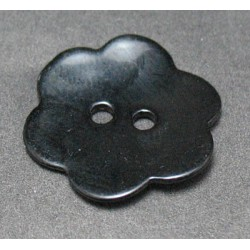 Nacre fleur noir 20 mm