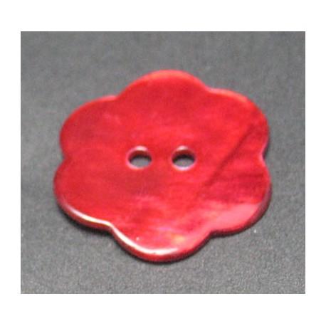 Nacre fleur rouge 22 mm