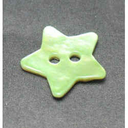 Nacre étoile vert anis 15mm