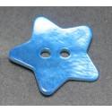 Nacre étoile bleu 15 mm