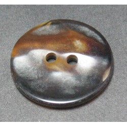 Bouton nacre ancienne marron 23mm