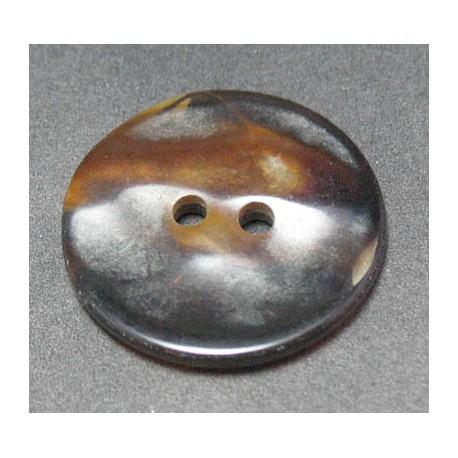 Bouton nacre ancienne marron 23 mm b64