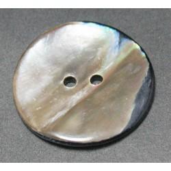 Bouton nacre ancienne irisé 25mm
