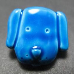 Bouton chien bleu 15mm