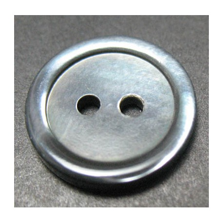 Bouton nacre trocas grise 16 mm b31