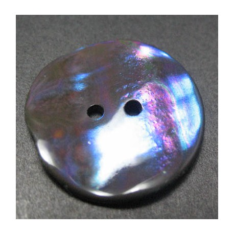 Bouton nacre makasar acier 22 mm b31