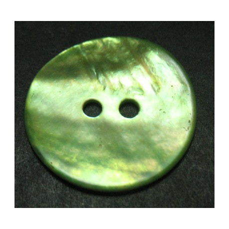 Bouton nacre vert anis 21 mm