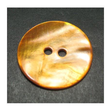 Bouton nacre orange 21 mm