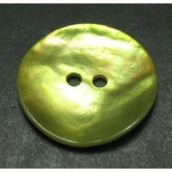 Bouton nacre jaune 21 mm