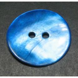 Bouton nacre bleu gitane 21 mm