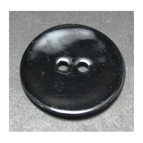 Bouton nacre noir 21 mm