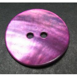 Bouton nacre violine 21 mm