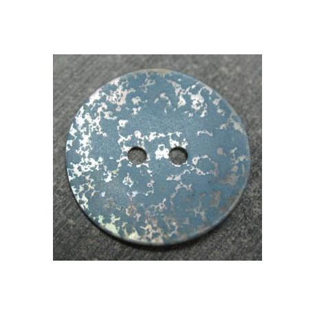 Nacre tachetée explosion peinture bleue 22 mm b45