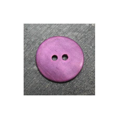 Bouton nacre violet 18 mm b45
