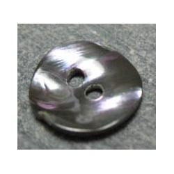 Bouton nacre acier 11 mm b31