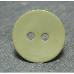 Bouton nacre jaune 15mm