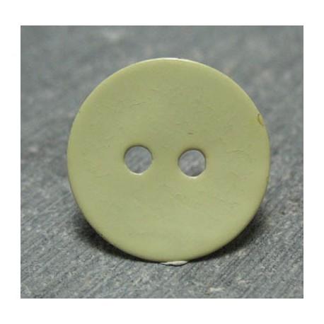 Bouton nacre jaune 15 mm b65