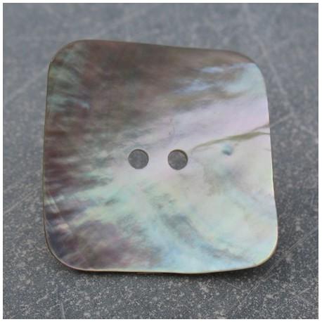 Bouton nacre carré 30 mm