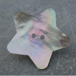 Bouton nacre étoile 38 mm
