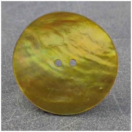 Bouton nacre jaune 38 mm