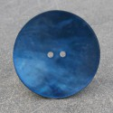 Bouton nacre bleu gitane 38 mm