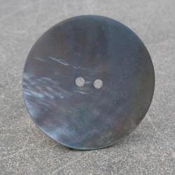 Bouton nacre bleu 38 mm