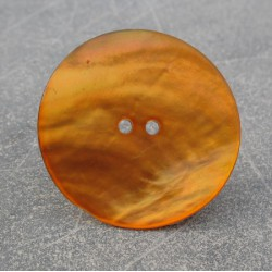 Bouton nacre orange 38 mm